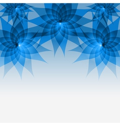 Floral abstract blue background with flowers vector image