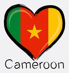 love Cameroon flag vector image vector image