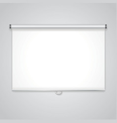 Projection presentation Screen White board for vector image