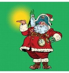 Santa Claus pirate and penguin presentation vector image
