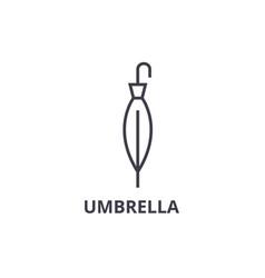 umbrella line icon outline sign linear symbol vector image vector image