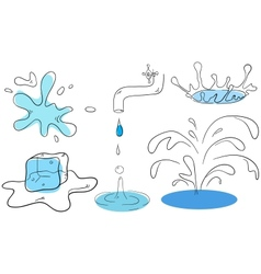 Water collection vector image