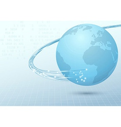Earth broadband cable connection background vector image vector image