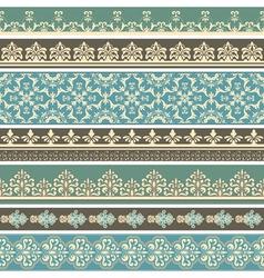 floral retro borders vector image vector image