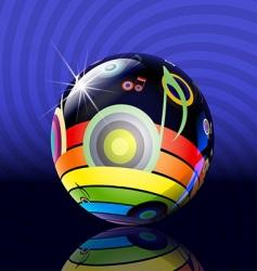 musical ball vector image vector image