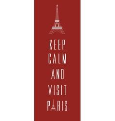 Paris travel card vector image vector image