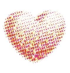 Word cloud heart vector image