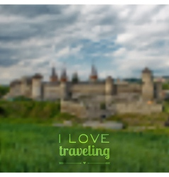 blurred traveling background Web and mobile vector image vector image