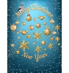 Christmas blue light background EPS 10 vector image
