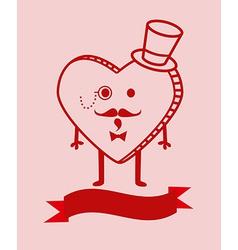 Cute cartoon heart background vector image vector image