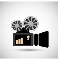 Film and movie icon design vector image