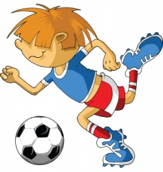 little soccer vector image
