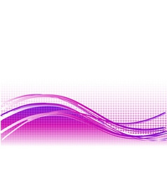 purple wave background with lines vector image vector image