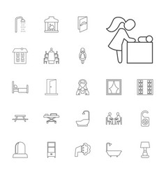 22 room icons vector