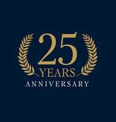 25 anniversary royal logo vector