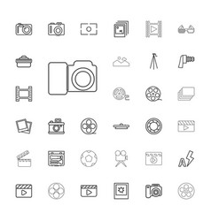33 film icons vector