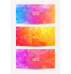 Abstract colorful document template vector