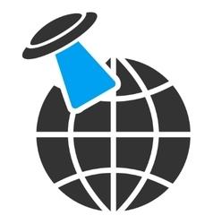 Alien Visit Icon vector image