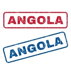 Angola Rubber Stamps vector