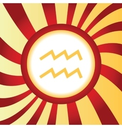 Aquarius abstract icon vector