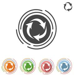 arrows in a circle process icon vector image