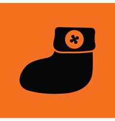 Baby bootie ico vector image