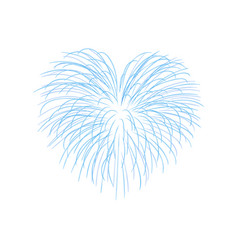 beautiful heart-firework bright romantic salute vector image