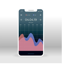 Blue pink economy ui ux gui screen for mobile vector
