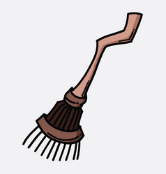 broom doodle color icon drawing sketch hand drawn vector image