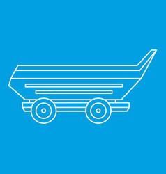 Car trailer icon outline vector