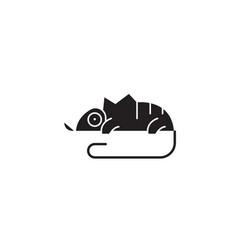 chameleon black concept icon chameleon vector image