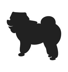 Chow Black Silhouette vector