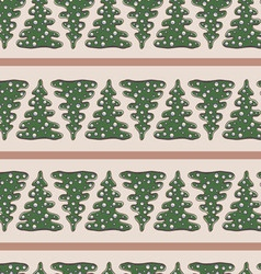 Chrismas and New Year beautiful seamless pattern vector image