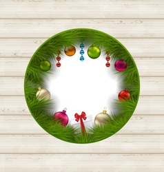 christmas frame with traditional elements and copy vector image
