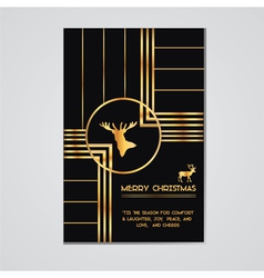 Christmas Invitation Card - Art Deco Style vector image