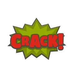 Comic boom crack icon flat style vector