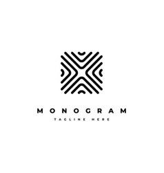 creative abstract monogram logo design temp vector image