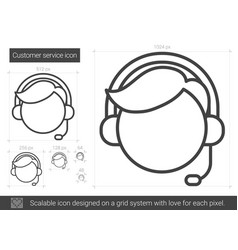 Customer service line icon vector