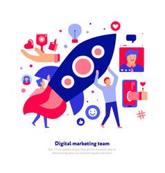 digital marketing team vector image