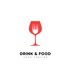 Drink and food logo vector