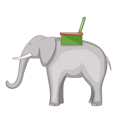 Elephant icon cartoon style vector