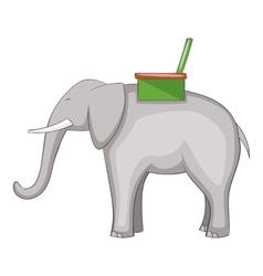 Elephant icon cartoon style vector