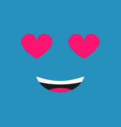 emoticon smile with smiling love face vector image