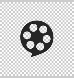 film reel icon isolated on transparent background vector image
