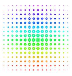 gear shape halftone spectral grid vector image
