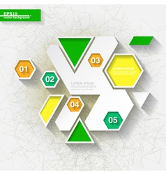 Green and yellow infographic template vector