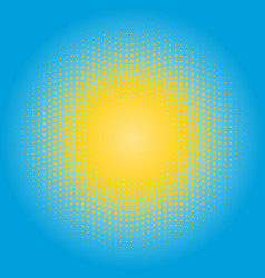 halftone sun design element circle of yellow dots vector image vector image