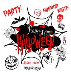 Halloween party Happy Halloween message design vector