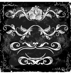 Hand-Drawn Doodle Borders and Design Elements vector image