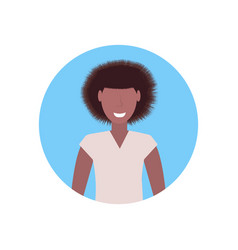 happy woman african american girl face avatar vector image